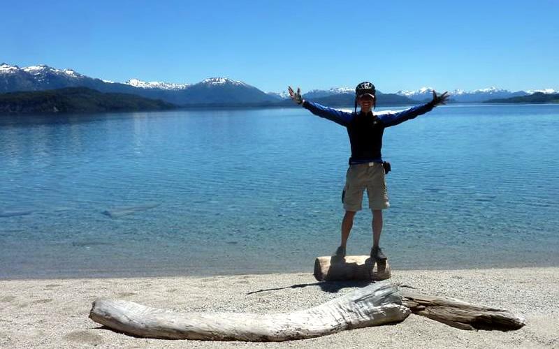 cicloturismo argentina lago aluminé