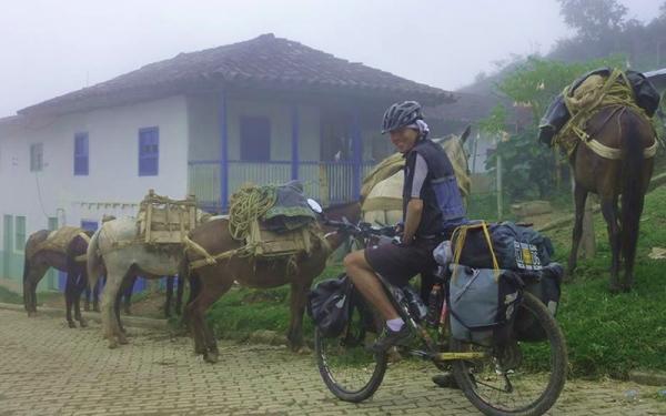 colombiano recorrio sur america en bicicleta