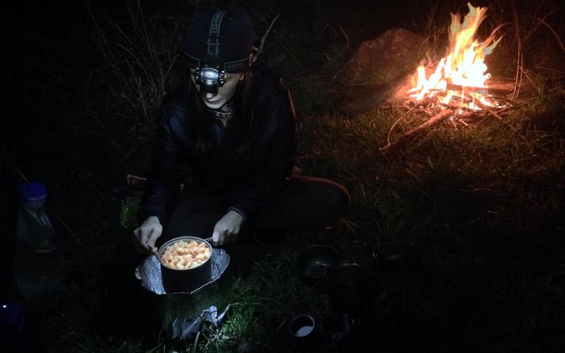la alimentacion de un nomada en bicicleta