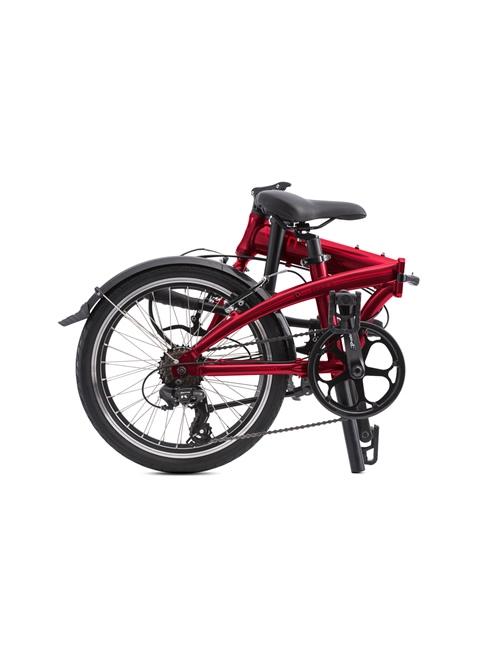 Bicicleta Tern Link A7 - Rojo Oscuro Plegada