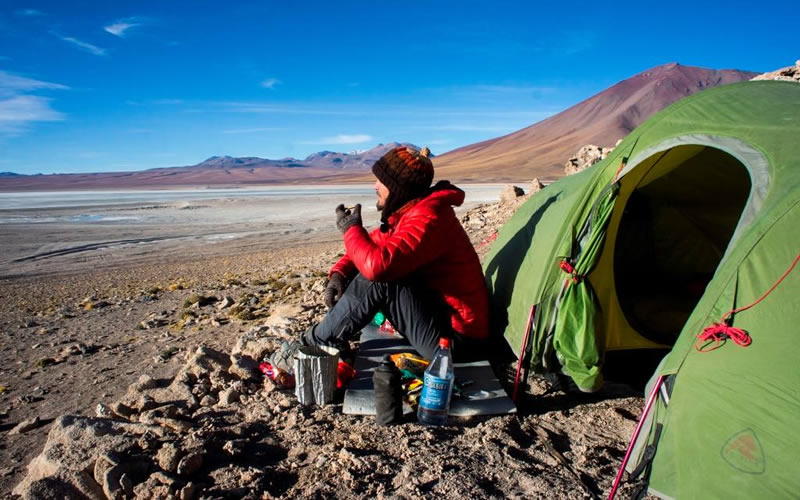 Acampando en el altiplano